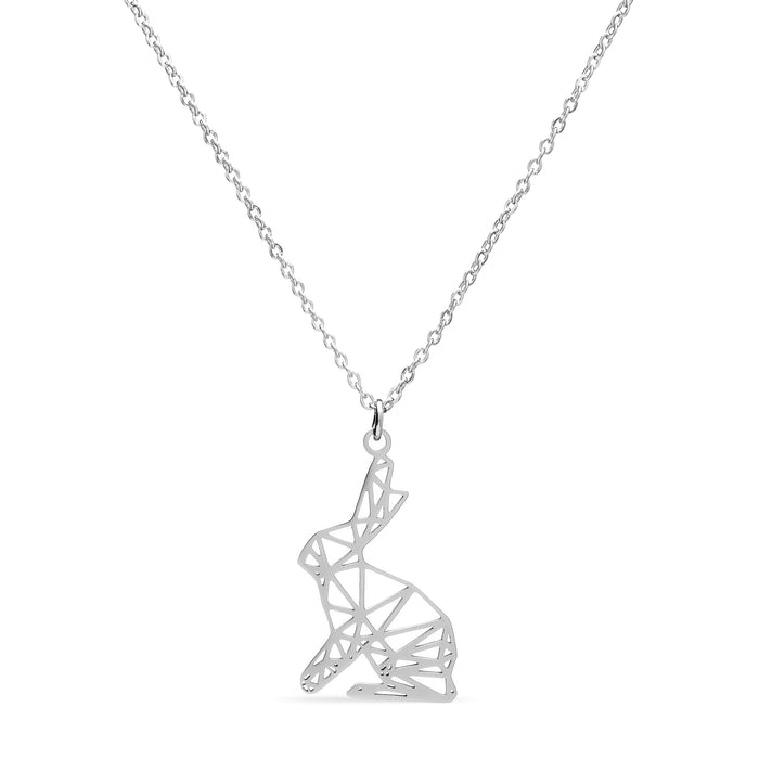 Geometric Rabbit Necklace