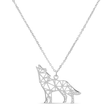 Geometric Wolf Necklace
