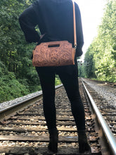 "Load image into Gallery viewer, Hand Tooled leather Large Clutch ""Vaquera"" by ALLE, Western style"