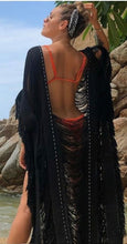 "Load image into Gallery viewer, ALLE BOHO ""BO"" MAXI COVER UP BEACH DRESS ORGANIC CLOTHING"