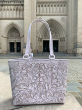 Load image into Gallery viewer, Leather Tote Bag Charly by ALLE Hand Tooled Leather Bag more Colors