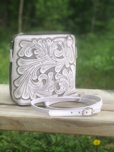 "Load image into Gallery viewer, Hand-Tooled Leather Large Crossbody ""Catalina"" by ALLE more Colors"