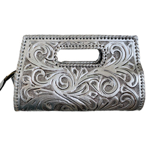 "Hand-Tooled Leather Small Clutch Bag ""Envelope"" by ALLE more Colors"