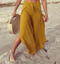 "Load image into Gallery viewer, ALLE BOHO ""DHARA"", Wrap-around Beach Pants, Unisex, Organic Clothing"