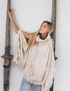 Boho High Neck Jacket, Bohemia Kimono Coat, Organic Clothing