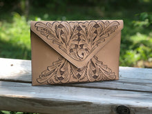 "Load image into Gallery viewer, Hand-Tooled Leather Crossbody & Clutch Bag ""Triangulo"" by ALLE more Colors"