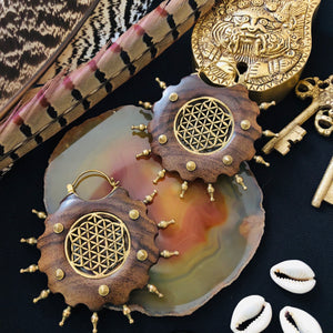 Boucles Tribal Flower of Life