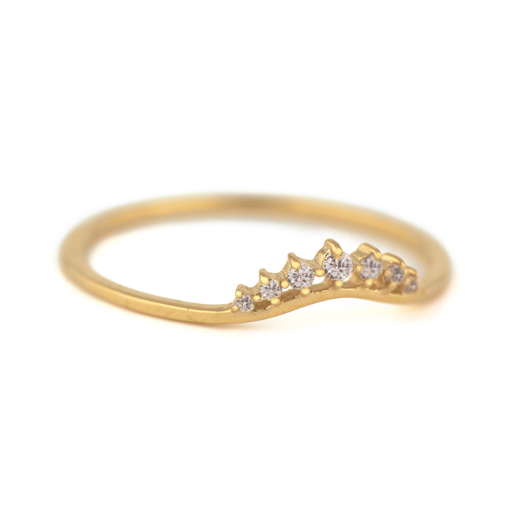 Diamonds Small Crown Ring