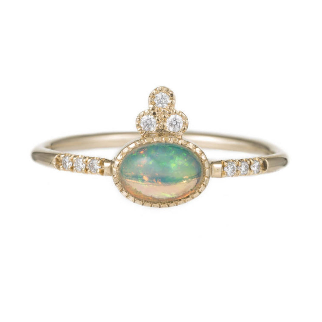 Opal Crown Equilibrium Ring