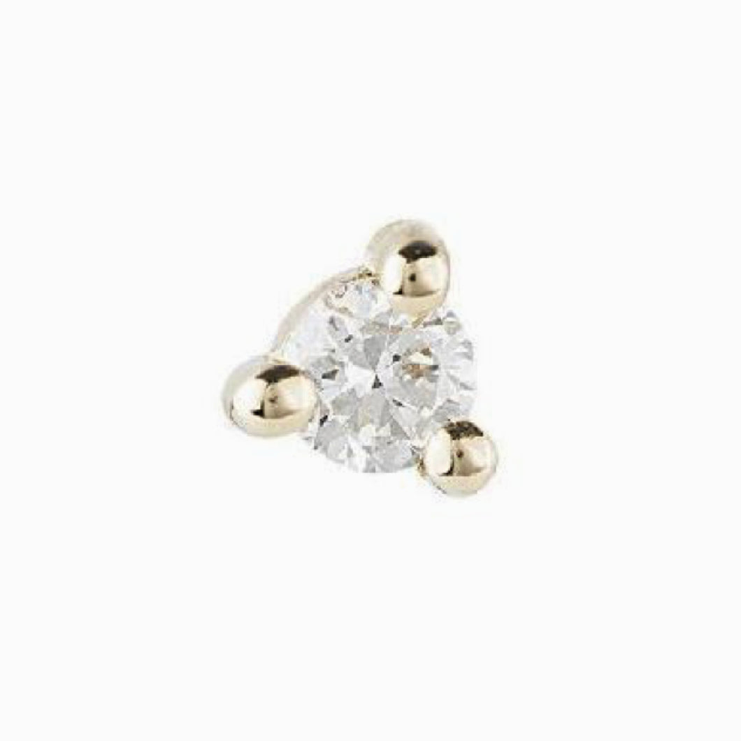 2 mm Diamond Dot Stud