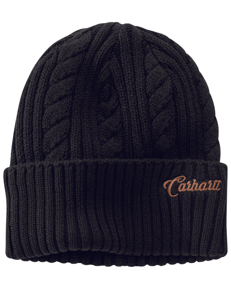 Rib Knit Fisherman Beanie - Black