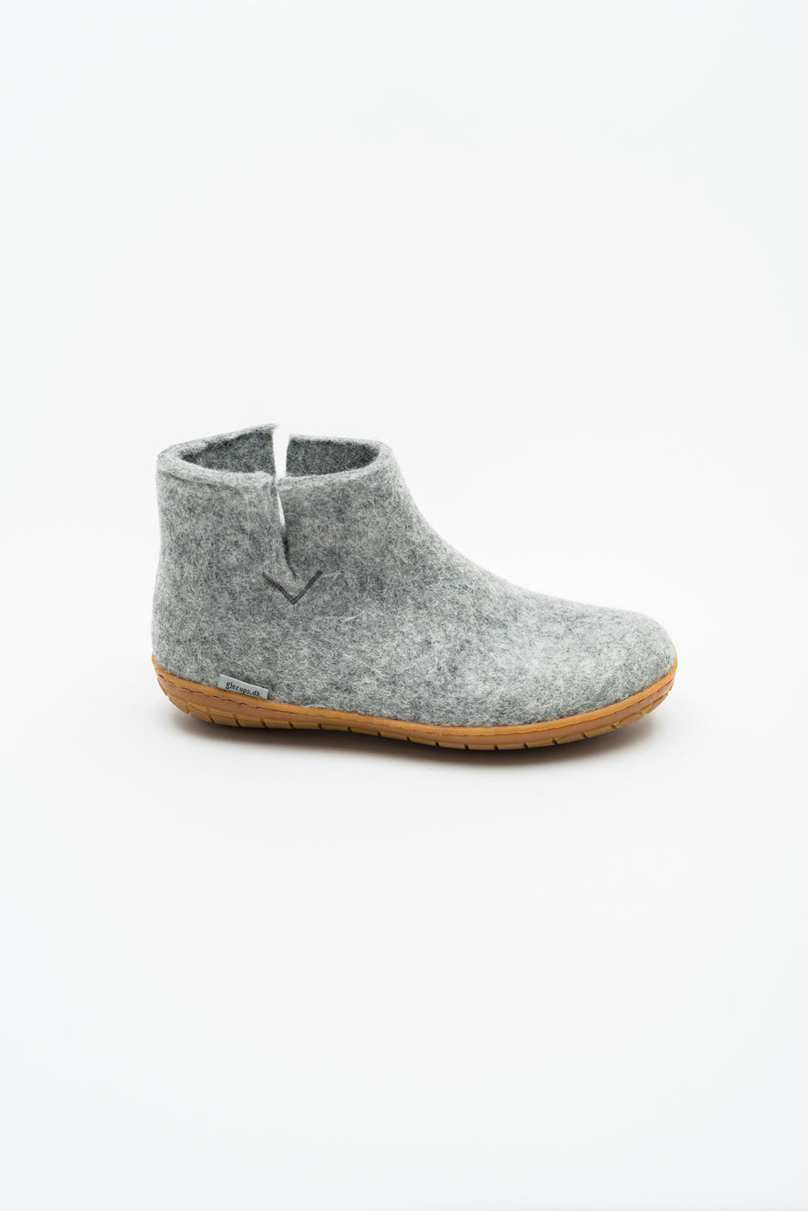 Low Boot with Rubber Sole - Grey