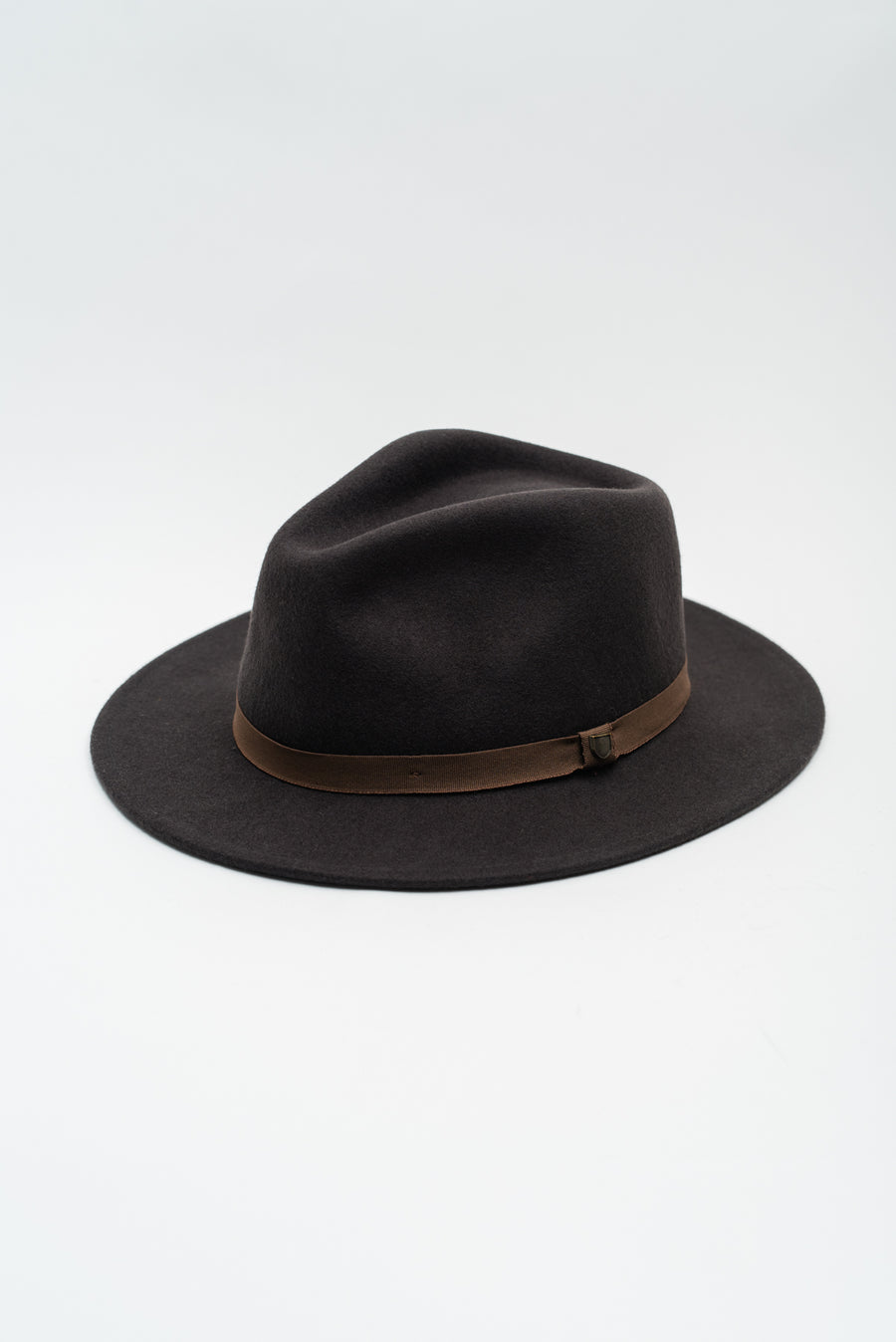 Messer Packable Fedora - Washed Black/Light Brown