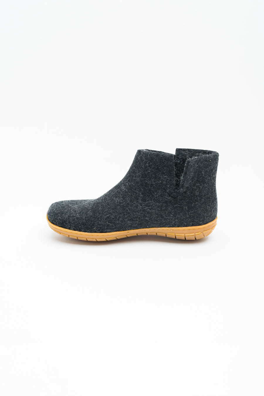 Low Boot with Rubber Sole - Charcoal