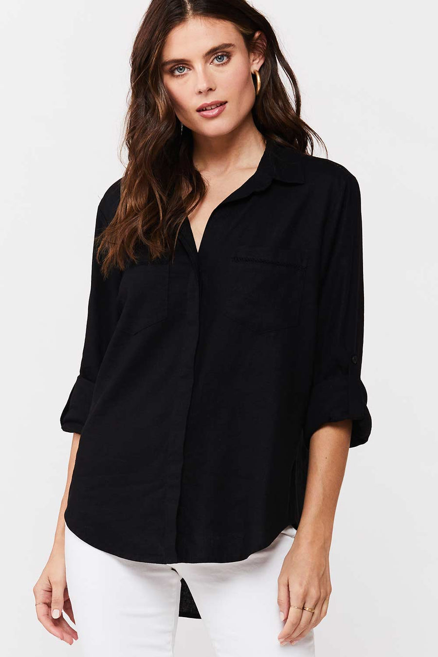 Riley Button Down - Black