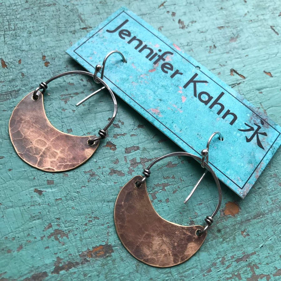 Crescent Earrings - Brass