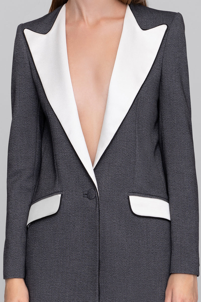 The Salt & Pepper Boyfriend Blazer