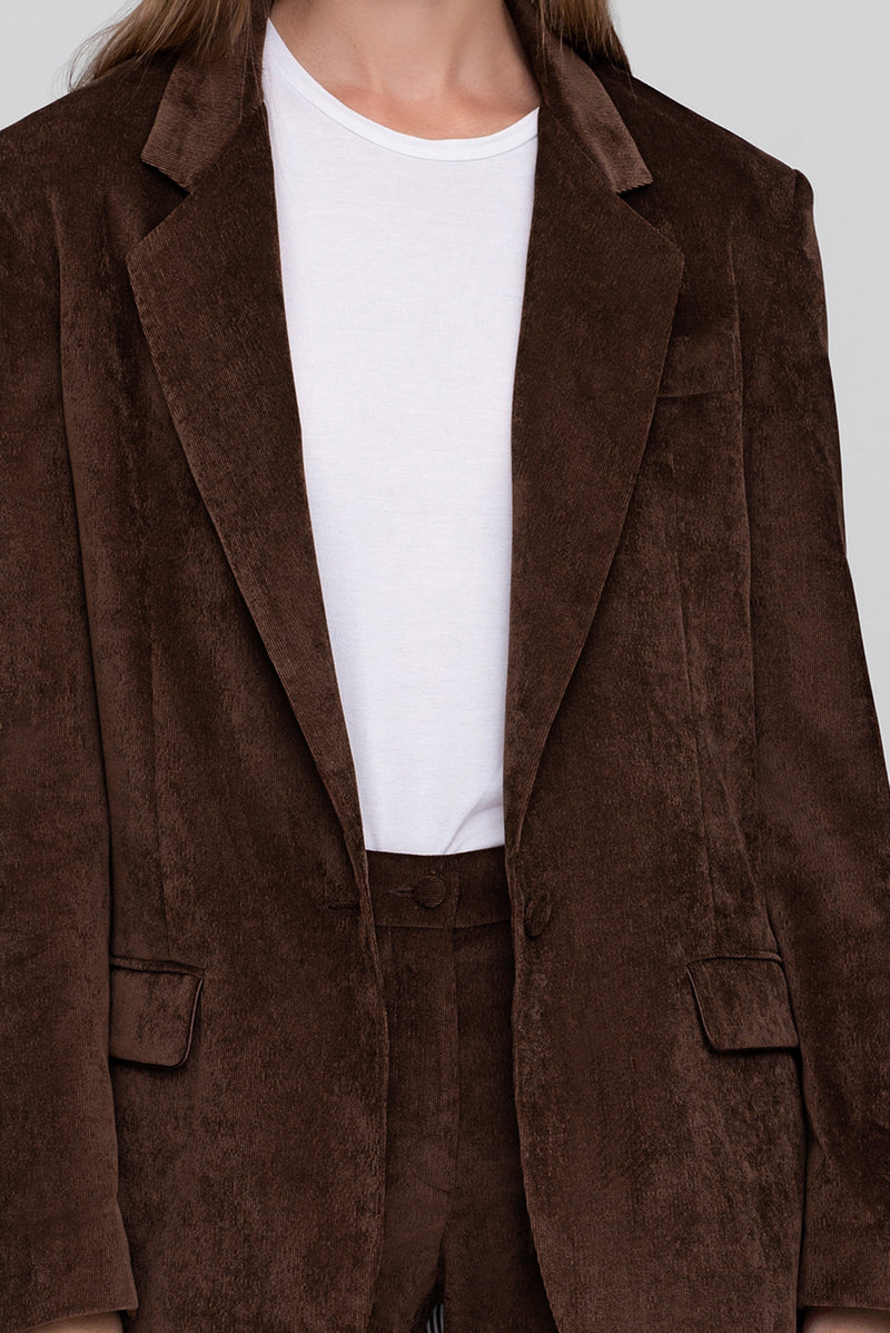 The Brown Corduroy Lover Blazer
