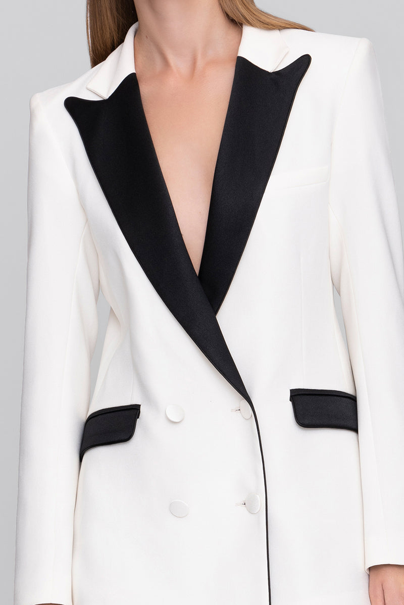 The Cream and Black Cady Bianca Blazer