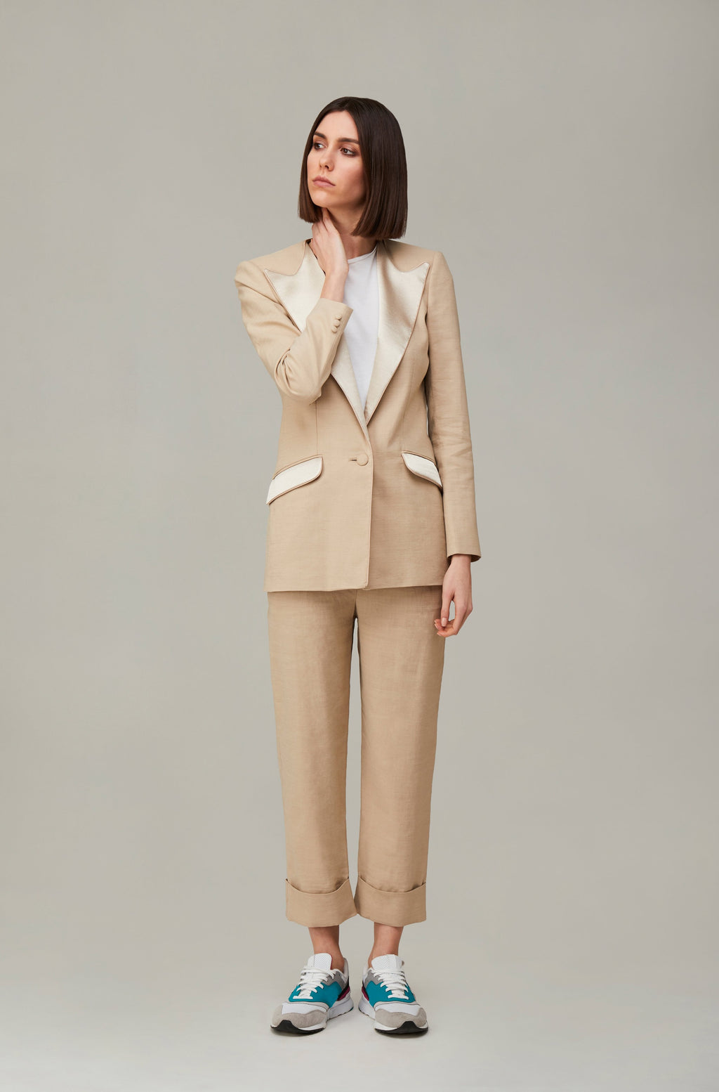 The Nude Linen Boyfriend Blazer