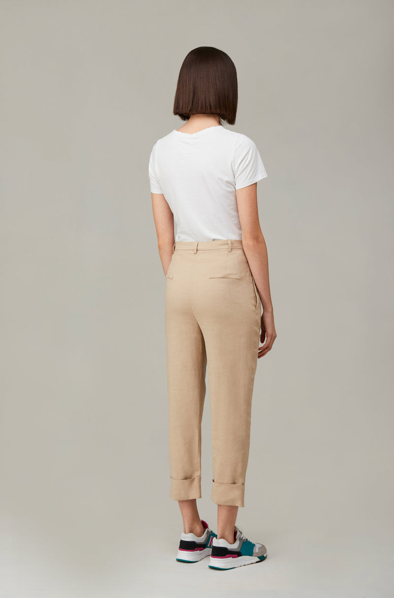 The Nude Linen Boyfriend Pants