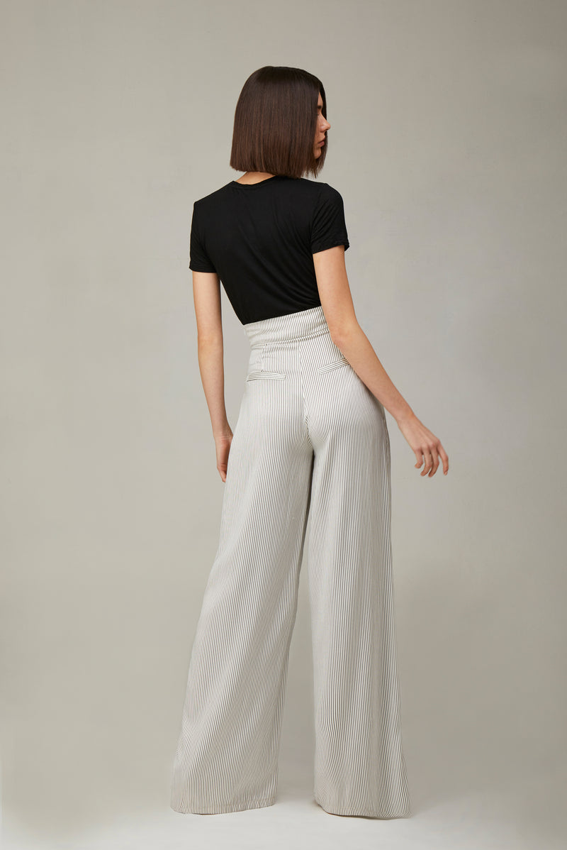 The Striped Silk Girlfriend Pants