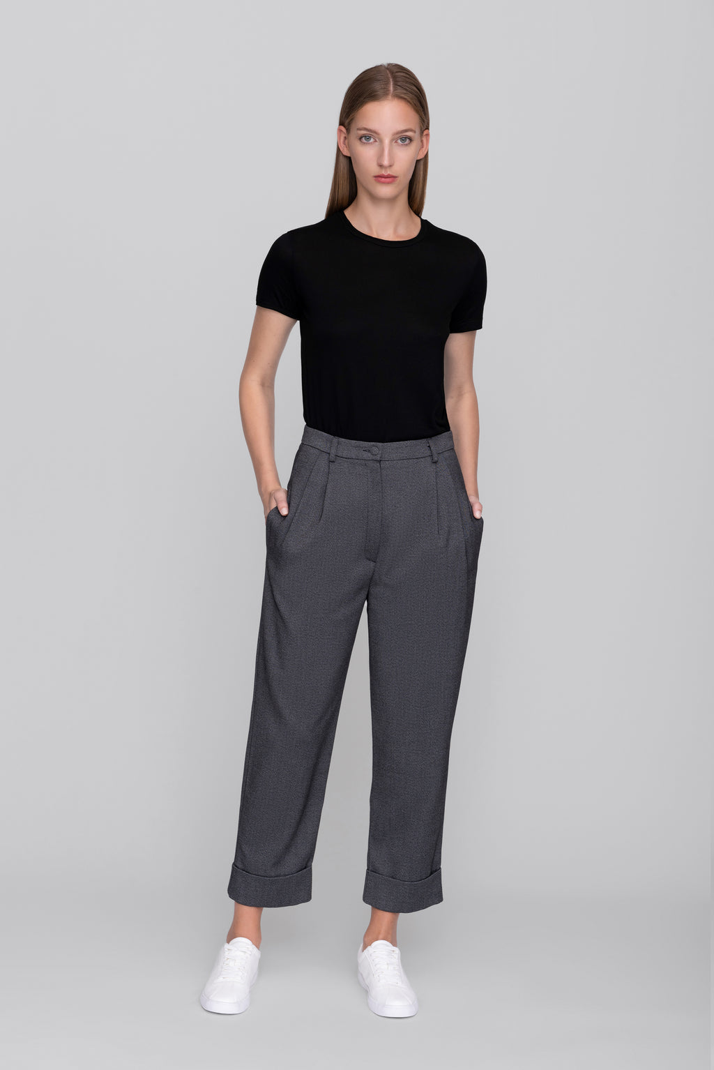 The Salt & Pepper Boyfriend Pants