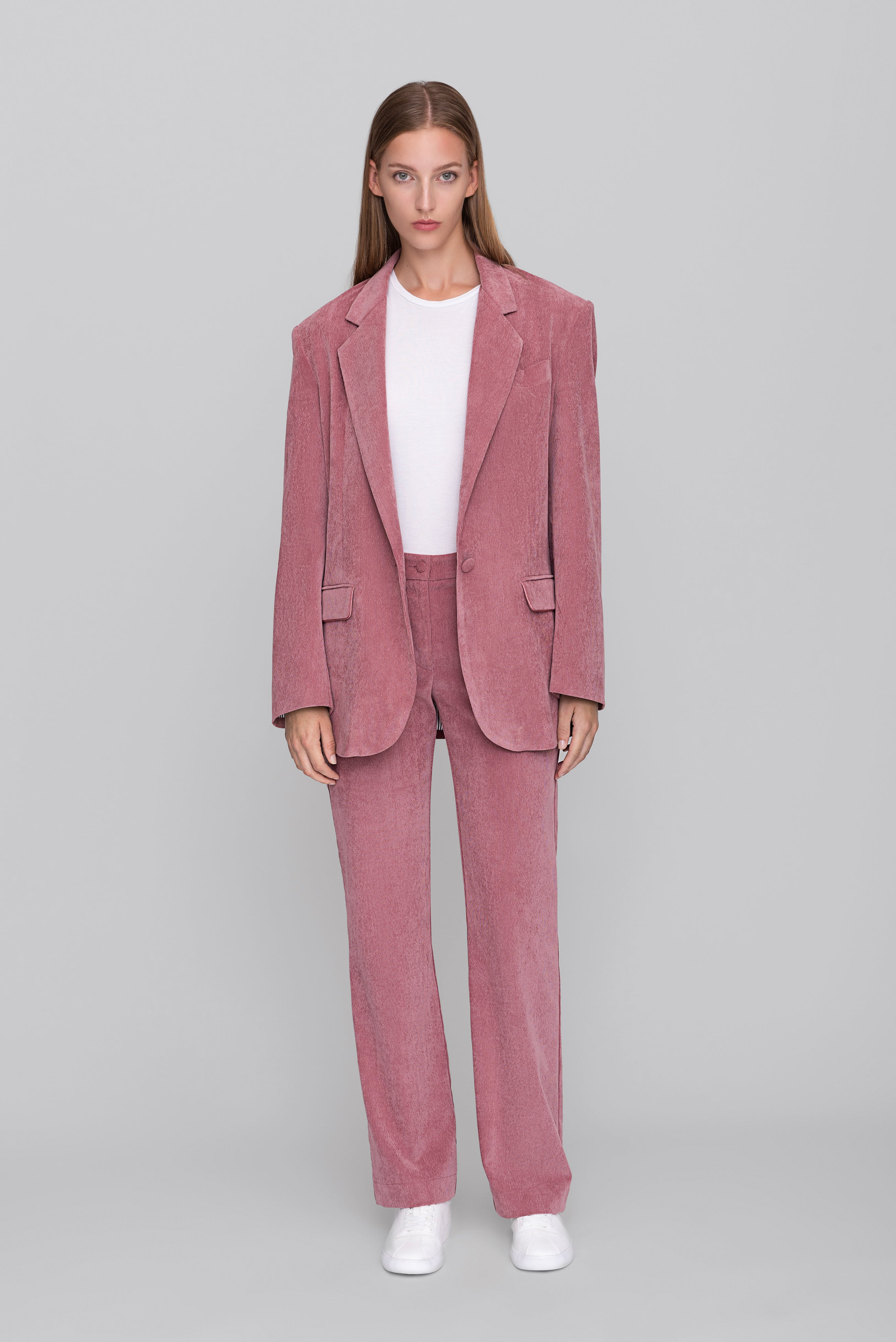 The Pink Corduroy Lover Blazer
