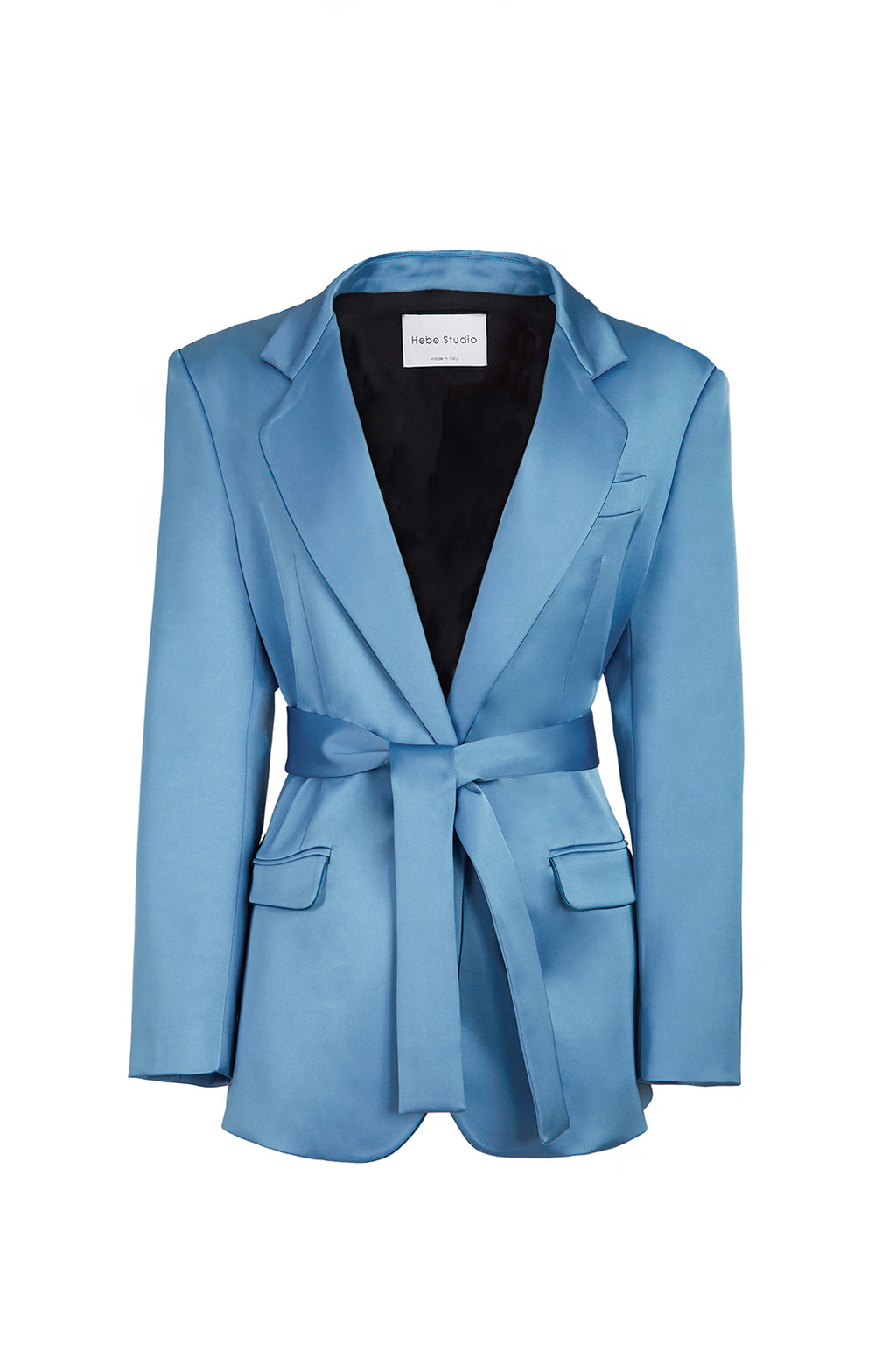 The Ciel Satin Lover Blazer with belt