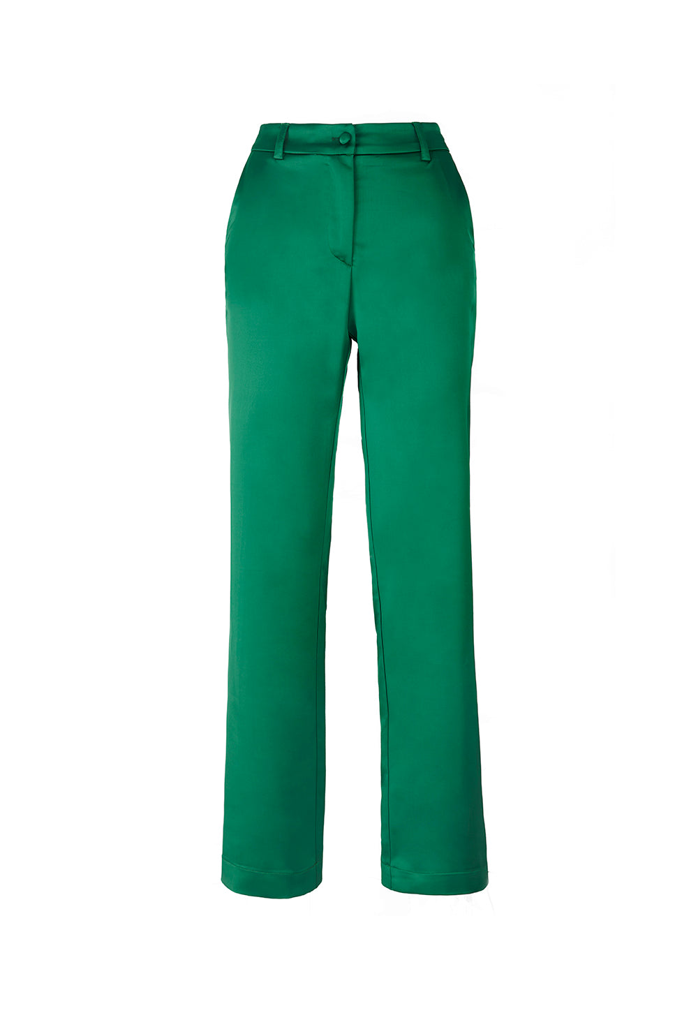 The Green Satin Lover Pants