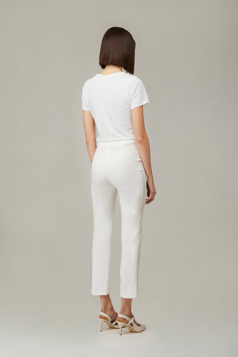 The White Linen Smoking Pants
