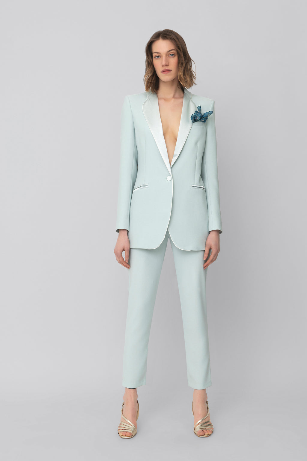 The Teal Smoking Blazer
