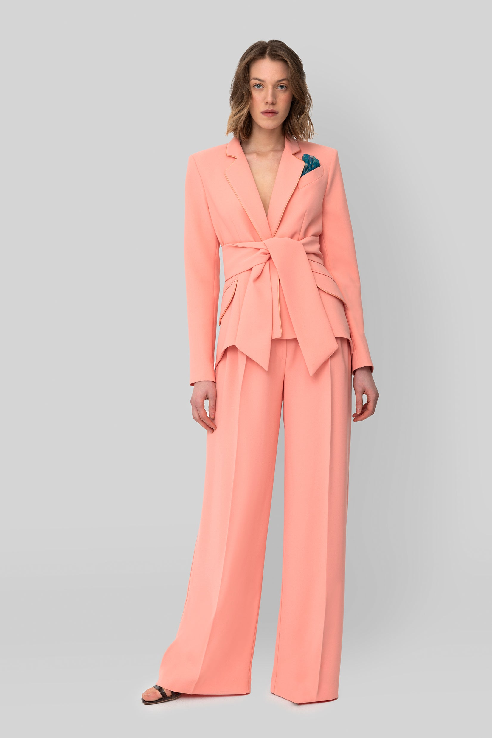 The Salmon Crepe Girlfriend Blazer