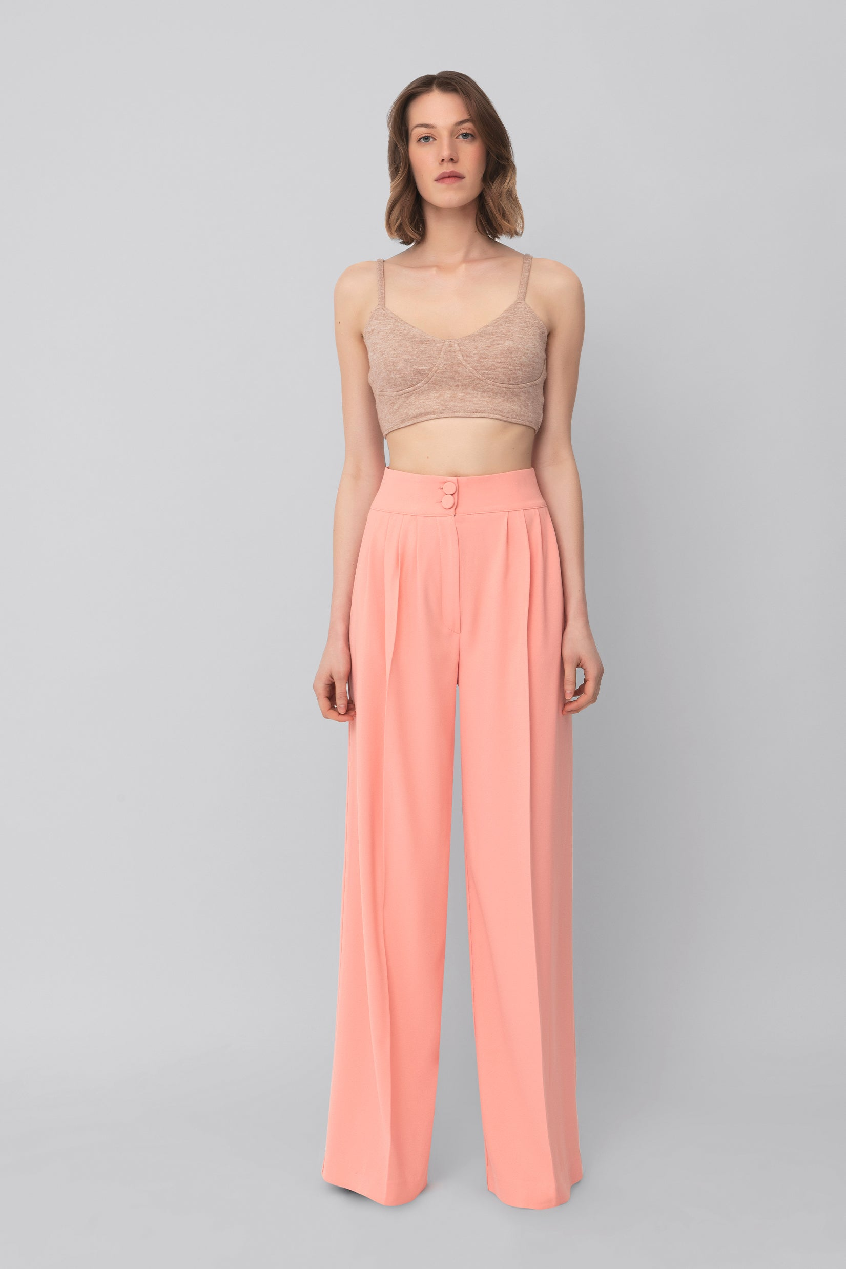 The Salmon Crepe Girlfriend Pants