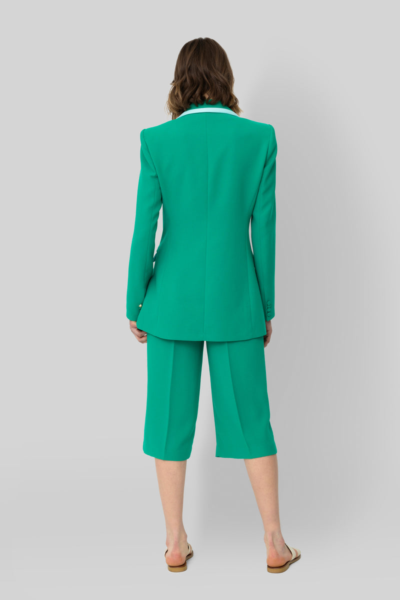 The Emerald Crepe Bianca Blazer