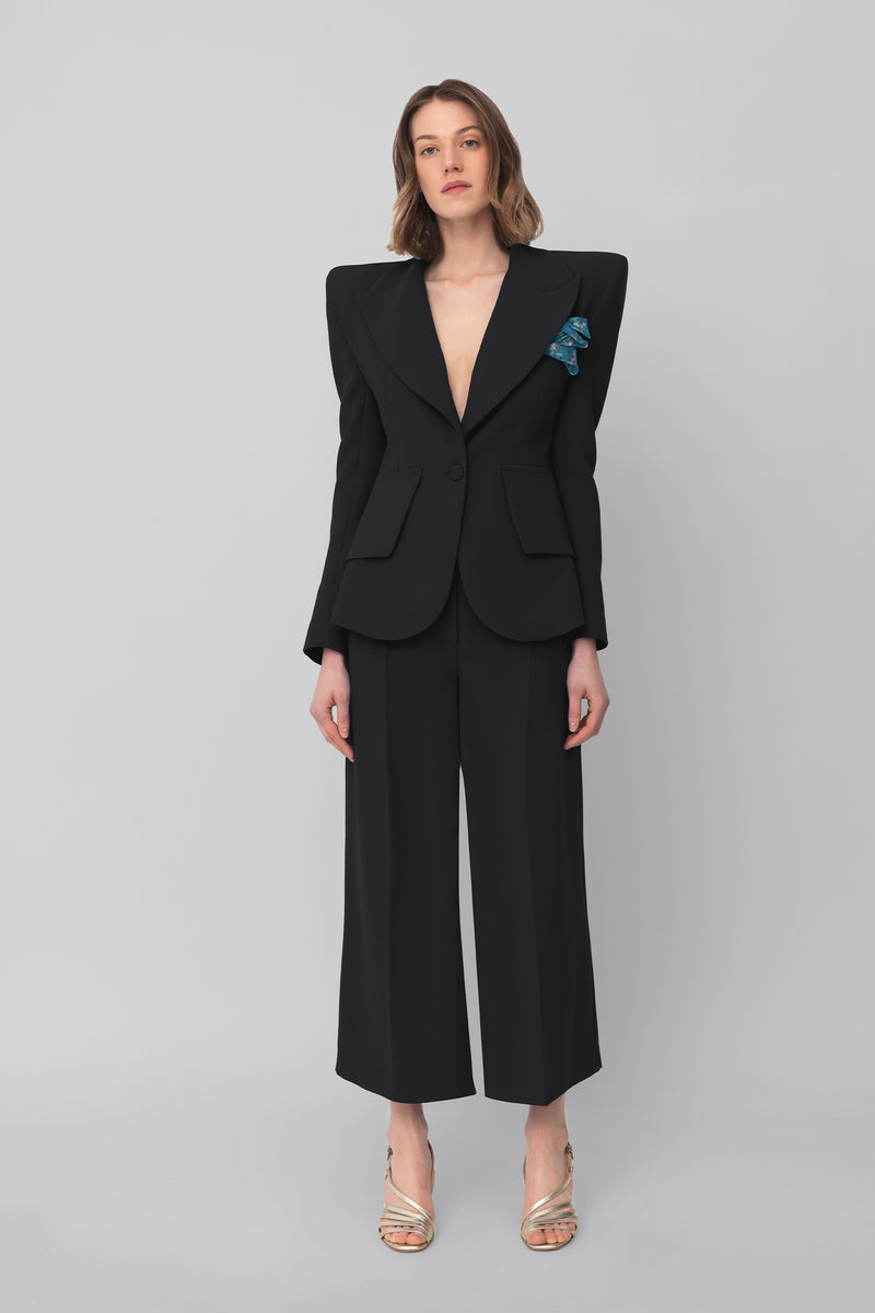 The Black Crepe Grace Pants