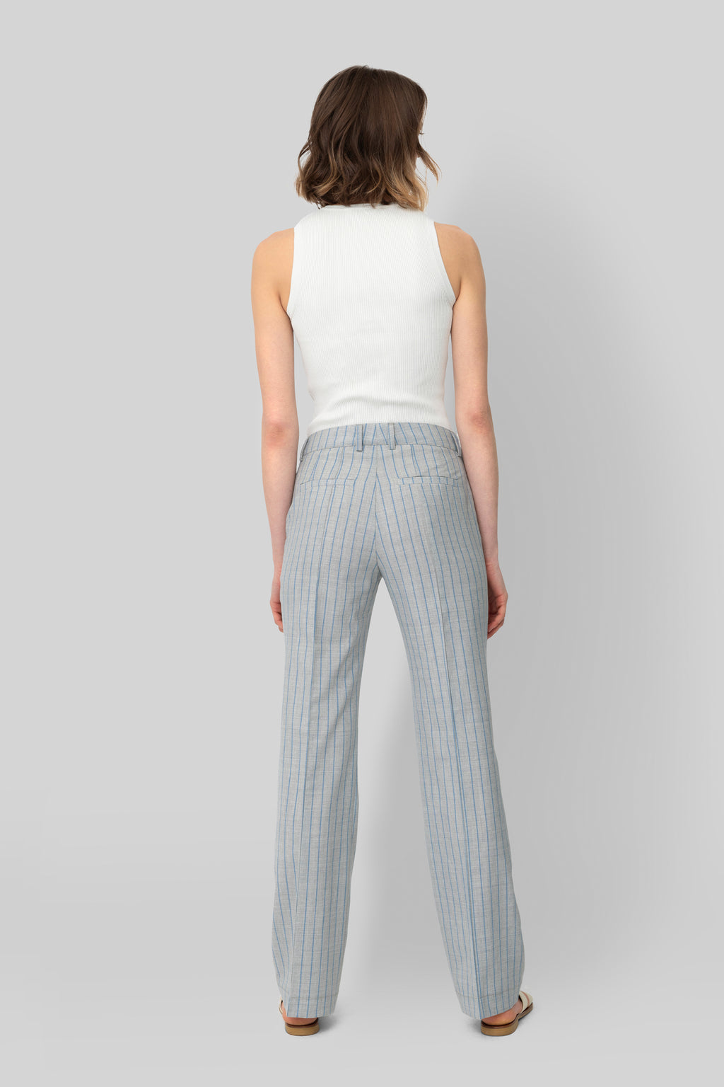 The Grey and Ciel Wool Lover Pants