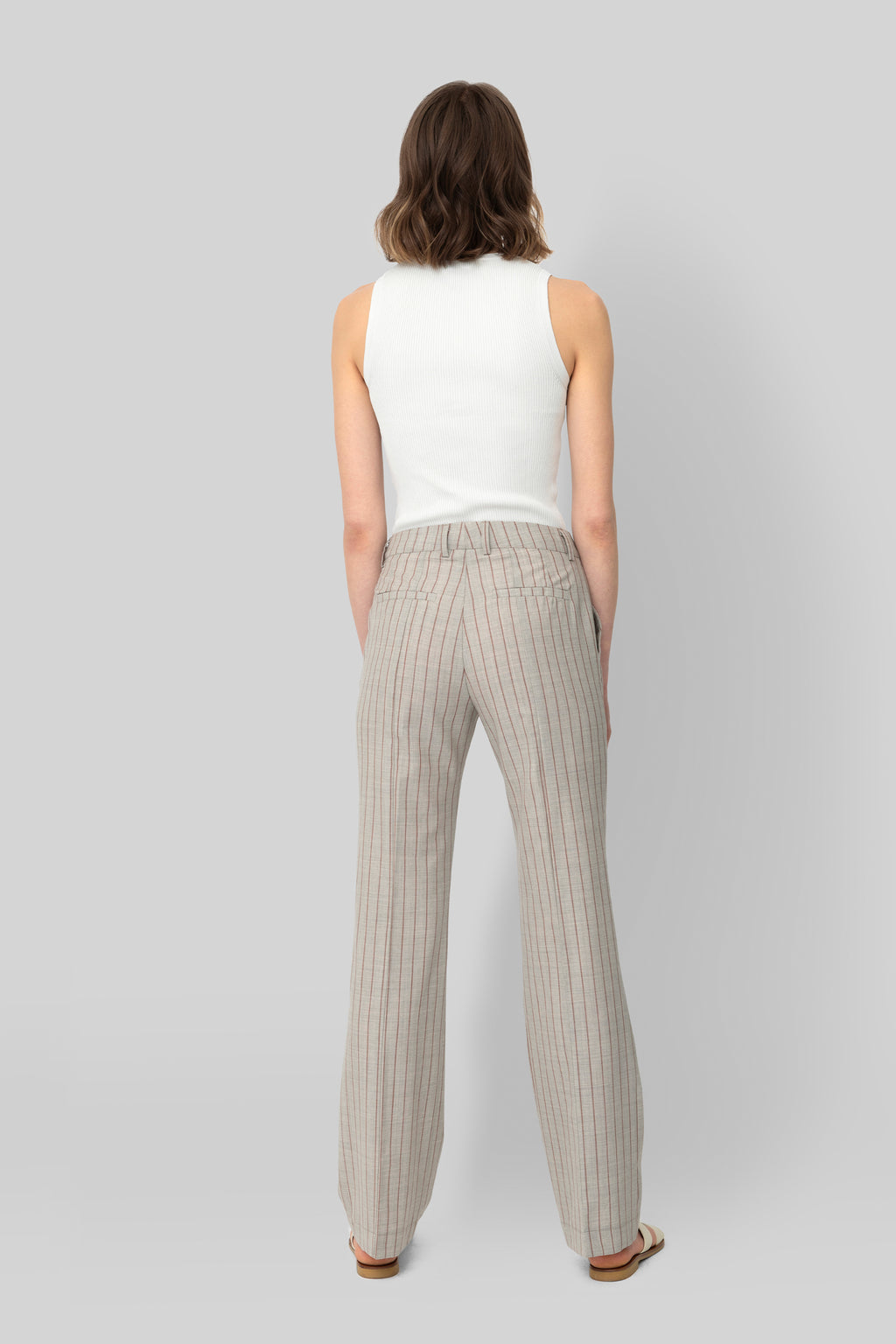 The Grey and Salmon Wool Lover Pants