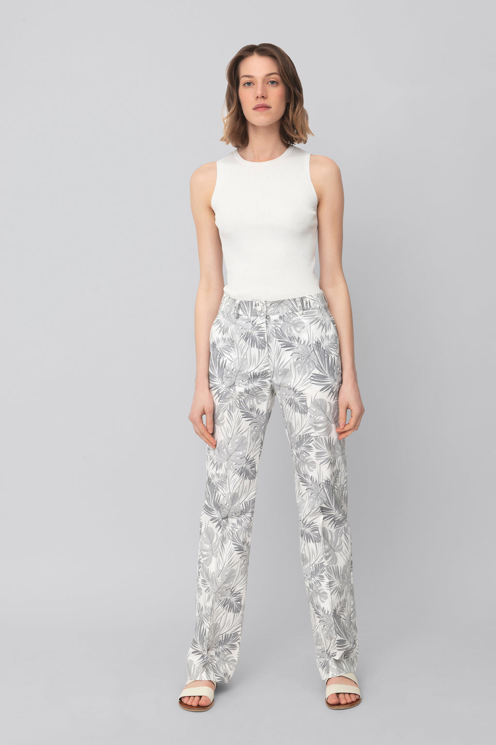 The Printed Cotton Grey Lover Pants