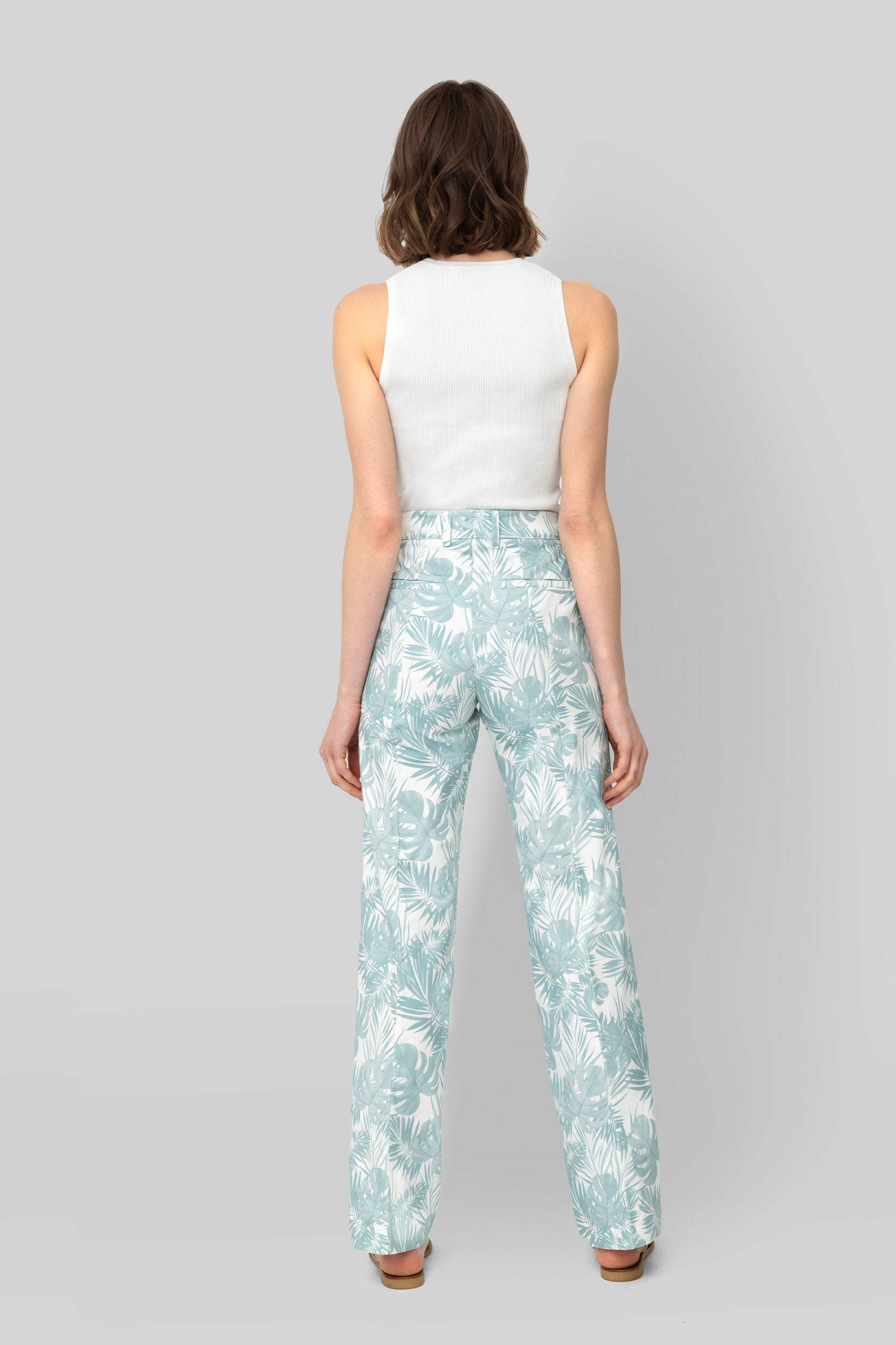 The Printed Cotton Teal Lover Pants