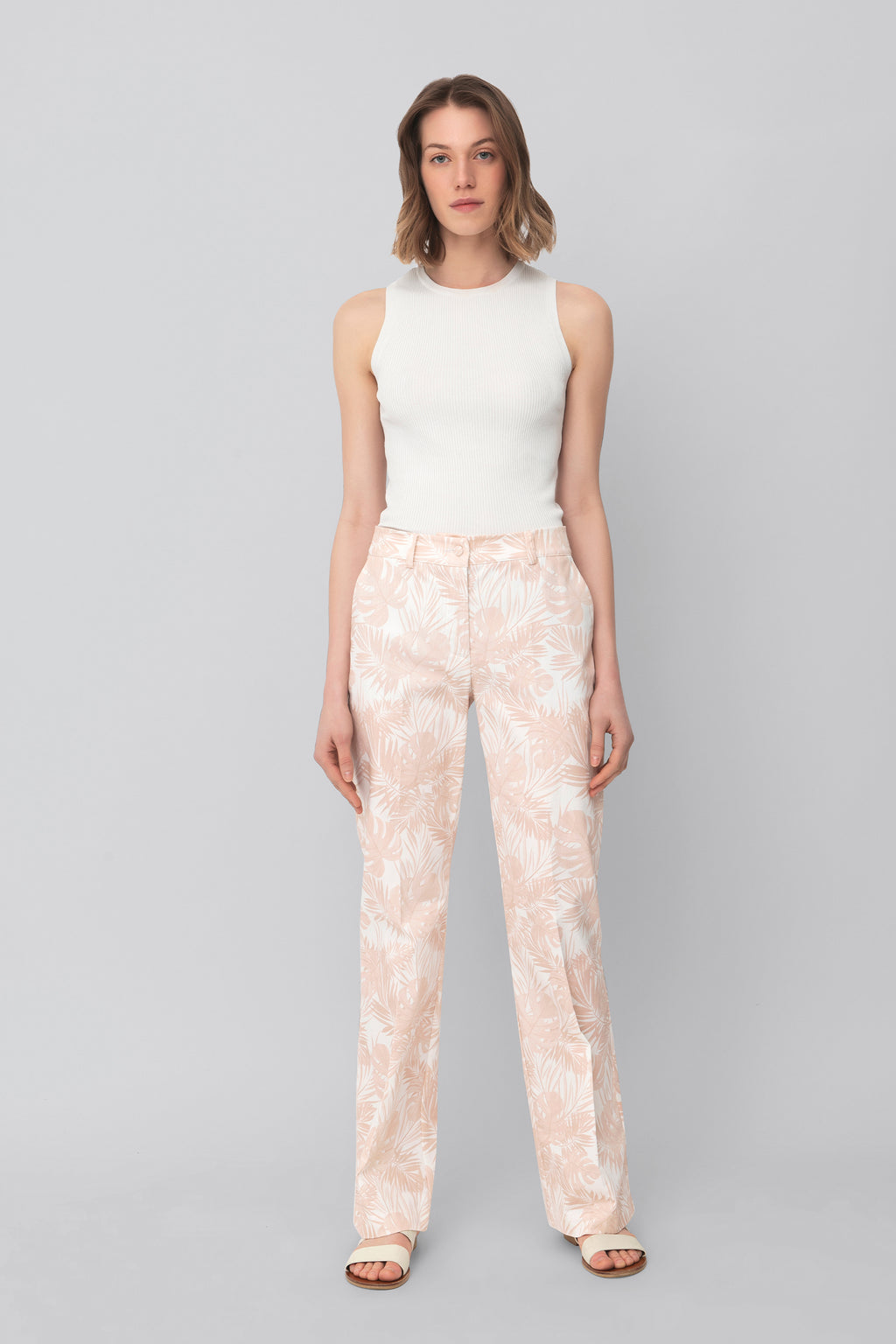 The Printed Cotton Pink Lover Pants
