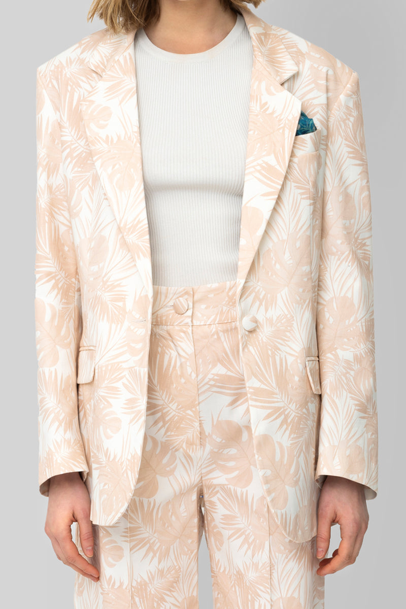 The Printed Cotton Pink Lover Blazer