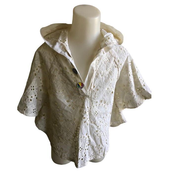 Broderie Batwing Beach Top