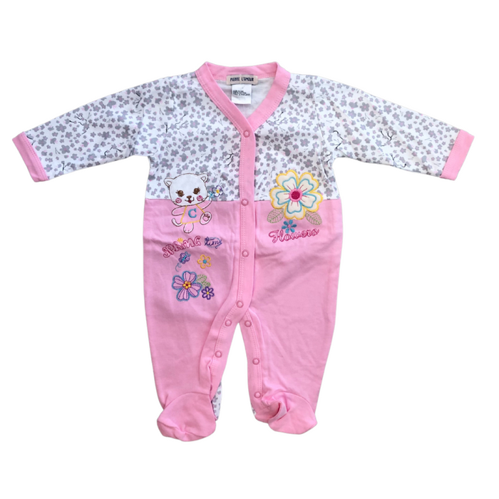 Assorted 100% cotton embroidered onesie