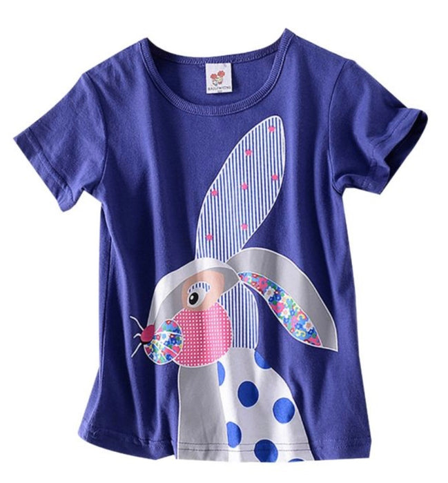 Patchwork Rabbit Print T-shirt