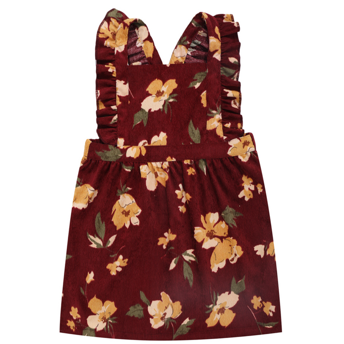 Floral Cord Pinafore