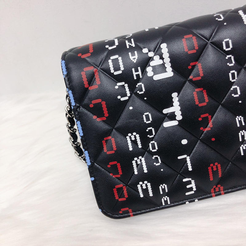 Data Center Wallet on Chain WOC Quilted Lambskin Leather SHW - Bag Religion