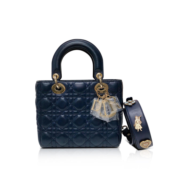Cannage Lambskin Lucky Badges My Lady Dior Blue