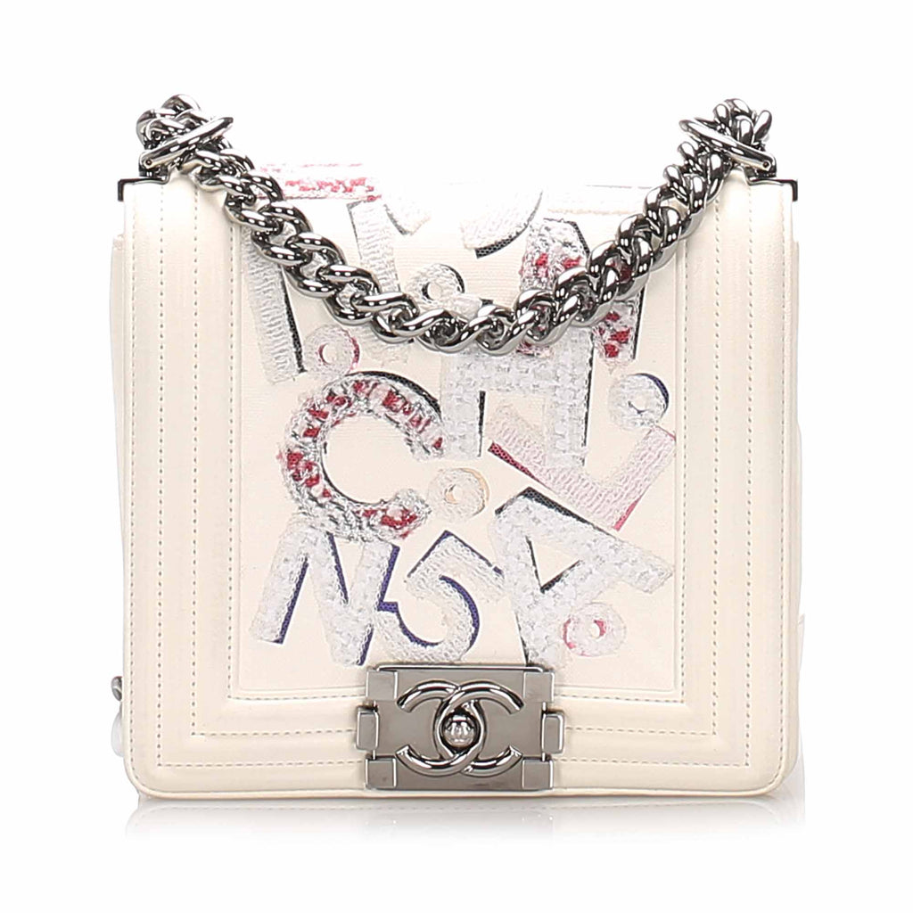 Chanel No 5 Graffiti Boy Flap Bag White - Bag Religion
