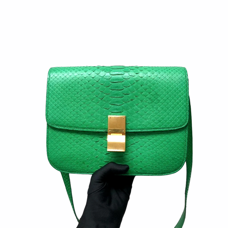 Python Medium Classic Box Flap Grass Green